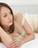 Pigtailed japanese ten gal takes off her white panties