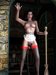 Slave girl tortured on the spiked cahir!