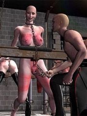 Inquisitors torture slaves nipples in all possible ways!