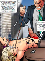 Very cool cartoon pictures with kinky doctor torturing his patient with special fucking devices
