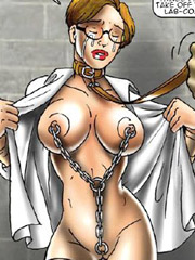 These bdsm comics naked slave babes learned to be obedient to their cruel master.