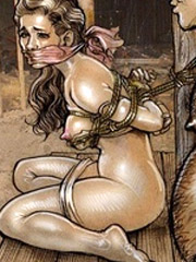 Tied girls fucked hard bdsm art. bad max by cagri.