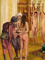 Tied up slave hotties begging for mercy while being fucked and tortured in the dark basement.