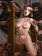 Perfect body slave girl giving an awesome head to black guy while being whipped.