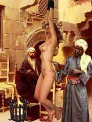 Emir's favourite -infact a white slave- was crucified at the main gate!
