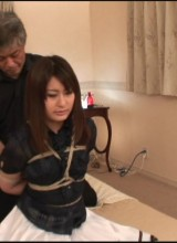 Hogtied asian beauty tortured with hooks and vibro