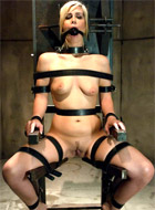 Petite girl gina loves being watched by men while totally nude and hogtied.