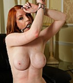 Bondaged submissive chick showing her blowjob and fucking skills to her master.