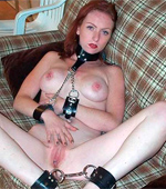 18 yo stunning tied babe bridget flashing her tight pink pussy.