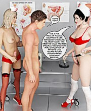 The ultimate 3d sex therapy with hot two young shemale nurses