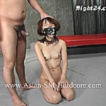 Poor asian girl from a cage gets humiliated and banged dirtily with bdsm tools appliances