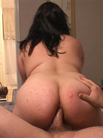 Naughty bbw foreplay before a hard dick riding game