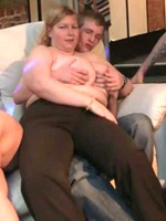 Drunken fatties at a bar are having an orgy and the party is fucking great with hot oral