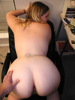 Hairy pussy bbw chick taking off her pink undies and exposes her heavy boobies.