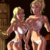 Milky tits porn comics chick gets her tight snatch being plowed by black dong.