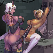 Comics porn pics of awesome toon babes blowing hard cocks and being plowed hard.