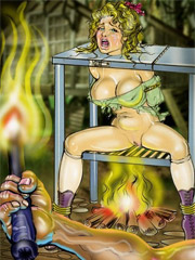 Slaves in dark dungeons tortured by hot iron and whips!