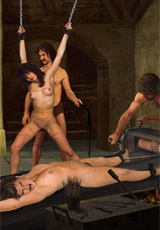 Priest watches slave girls humiliation!
