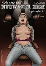Blonde young stunner and her bf gets enslaved and humilited by perverted criminals. tags: bdsm art, naked girl, tits.