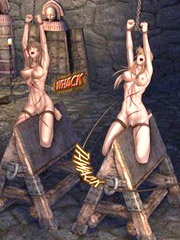 Slave girls roe on the slave galley!