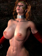 Heavy tits slutty 3d girl was fucked by bigcocked blonde guy in the locked room.