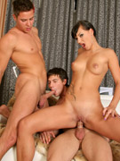Bisex boytoy takes it hard, so does she