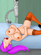 Cartoon blonde hottie with huge juggs giving a head to black stud in the library.