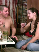 Teen couple has some drinks then they end up in petting