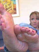 Gorgeous ones' captivating feet ready to caress you
