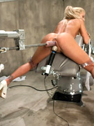 18 year old, sasha grey gets her pussy pounded by machines.
