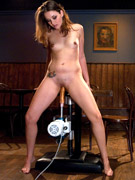 21-yr old hot newcomer, billiann gets a workout with the machines. she rides the sybian like it's a horse, fucks the faun and the mamba at full speed.