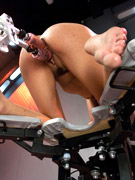 Her pussy is being pierced by a sex machine. tags: fucking machines, dildo fucking machines, hot orgasm, sexy scenes, screams for pleasure