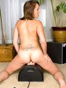 Blonde slut helps herself with a vibro when pounded with a sybian