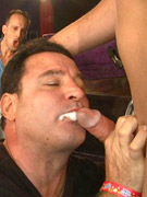 Boytoy gets impaled by strapon and cock and cum covered