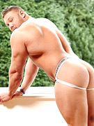 This guy is tremendously hot hot hot with all his muscles in the right places, tight butt, and long huge man pole