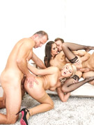 Lusty czech sluts getting their tight cunts hardcore fucked in an orgy.