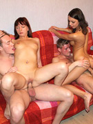 Hot fuck parties and threesome session with mature housewives
