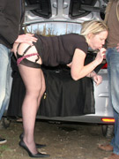 Cute ladies enjoying sex party with lots of boys at one run!