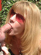 Two ladies tackle a hard cock with their mouths along with other hot blow jobs