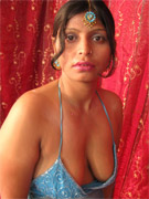 White lingerie dressed indian babe slowly getting naked and toying her shaved twat with red sex toy.