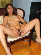 Naughty indian model rani working two big dicks with her mouth and gets nasty threesome banging