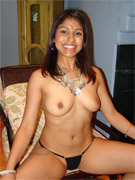 Naked indian stunner proudly exposing her yuumy tits and tight shaved vagina.