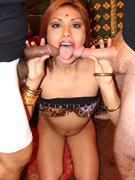 Smily busty indian plumper slowly undressing while alone at home.