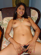 Sassy indian babe arhuarya playing with her big plump tits while rubbing her hairy muff