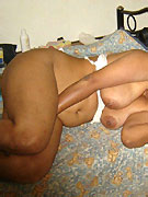 Erotic indian stunner taking off her blue outfit covering her gorgeous body on the roof.