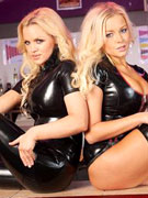 Hot blonde babes regina & susan spanking in latex