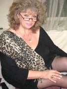 Hot and naughty granny looking for fun displays cute tits, ass and pussy