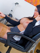 Hot office chick with big boobs gets anal pounded by boss