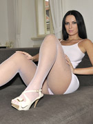 Extremely nice and fairy solo performance from nylon feet beauty