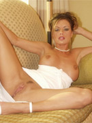 Crissy moran flashes her sweet pussy through a white summer dress